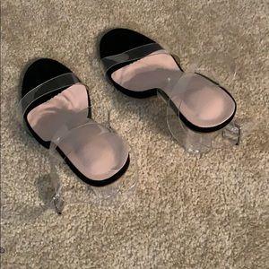 Clear Heels Ankle Strap Adjustable Buckle Sandal